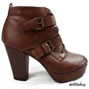 Report Buckle high heel boot